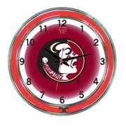 Wave 7 NCAA 18'' Team Neon Wall Clock; Florida State