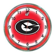 Wave 7 NCAA 18'' Team Neon Wall Clock; Georgia