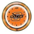 Wave 7 NCAA 14'' Team Neon Wall Clock; Oklahoma State