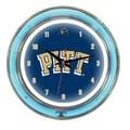 Wave 7 NCAA 14'' Team Neon Wall Clock; Pittsburgh