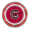 Wave 7 NCAA 14'' Team Neon Wall Clock; South Carolina