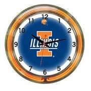 Wave 7 NCAA 18'' Team Neon Wall Clock; Illinois