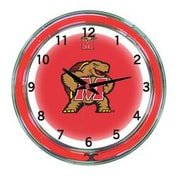 Wave 7 NCAA 18'' Team Neon Wall Clock; Maryland