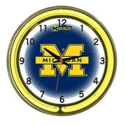 Wave 7 NCAA 18'' Team Neon Wall Clock; Michigan