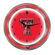 Wave 7 NCAA 14'' Team Neon Wall Clock; Texas Tech
