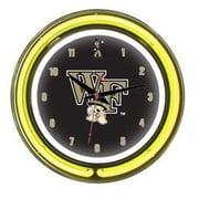 Wave 7 NCAA 14'' Team Neon Wall Clock; Wake Forest