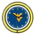 Wave 7 NCAA 14'' Team Neon Wall Clock; West Virginia