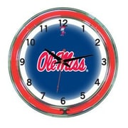 Wave 7 NCAA 18'' Team Neon Wall Clock; Ole Miss