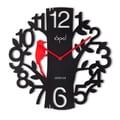 Opal Luxury Time Products 16'' Bird Shaped Pendulum Designer Wall Clock; Black