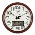 Opal Luxury Time Products 17.6'' Round Analog Digital Wall Clock