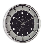 Opal Luxury Time Products 12'' Round Stainless Steel Case Wall Clock