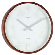 Opal Luxury Time Products 15.36'' Round Wooden Case Wall Clock
