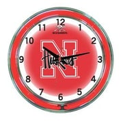 Wave 7 NCAA 18'' Team Neon Wall Clock; Nebraska