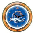 Wave 7 NCAA 14'' Team Neon Wall Clock; Boise State