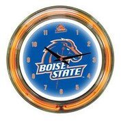 Wave 7 NCAA 14'' Team Neon Wall Clock; Boise State