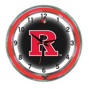 Wave 7 NCAA 18'' Team Neon Wall Clock; Rutgers