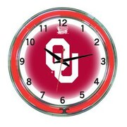 Wave 7 NCAA 18'' Team Neon Wall Clock; Oklahoma