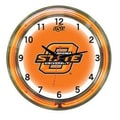 Wave 7 NCAA 18'' Team Neon Wall Clock; Oklahoma State