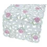 Xia Home Fashions Dainty Rose Table Runner; 15'' x 54''
