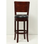 Mochi Furniture Rosedale 29'' Swivel Bar Stool with Cushion; Brown Cherry