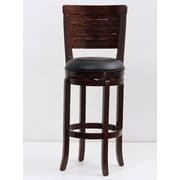 Mochi Furniture Rosedale 29'' Swivel Bar Stool with Cushion; Cappuccino