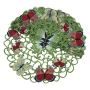 Xia Home Fashions Butterflies Round Doily (Set of 4); 12''