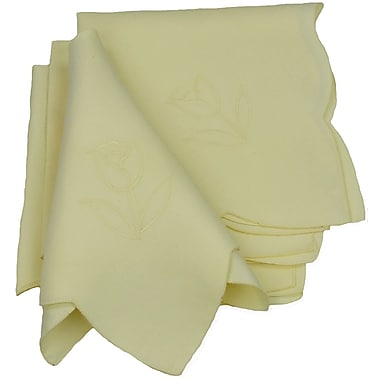 Xia Home Fashions Tulip Bouquet Napkin (Set of 4); Yellow