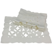 Xia Home Fashions Tulip Bouquet Placemat (Set of 4); White