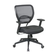 Office Star Space 18.5'' Managers Chair with Black Eco Leather Seat