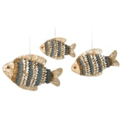 Boston International Natural School of Fish 3 Piece Hanging Figurine Set