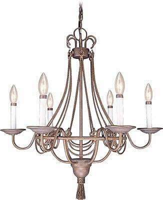 Volume Lighting Kuta 6 Light Candle-Style Chandelier WYF078276773940