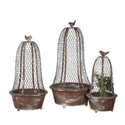 Creative Co-Op Round Terrarium Planter (Set of 3)