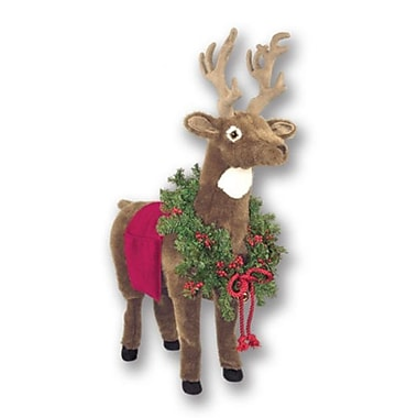 Queens of Christmas Reindeer Ottoman; Red