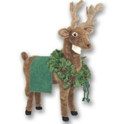 Queens of Christmas Reindeer Ottoman; Green