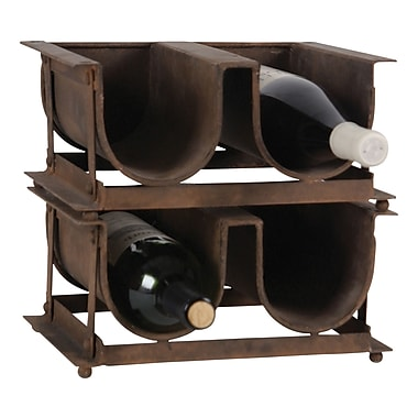 Wilco Home 4 Bottle Tabletop Wine Rack
