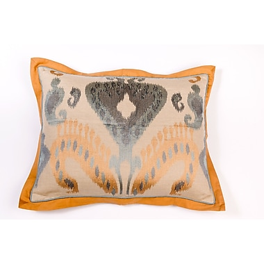 Filling Spaces Ikat and Suzani All Ikat Linen Pillow Cover; Linen