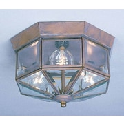 Volume Lighting 3 Light Ceiling Fixture Flush Mount; Prairie Rock