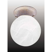Volume Lighting Marti 1 Light Ceiling Fixture Flush Mount; Prairie Rock