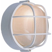 Volume Lighting 1 Light Outdoor Wall Mounted Light Fixture; White