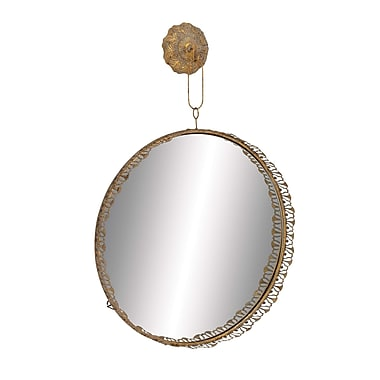 Woodland Imports Solaris Elegant Hanging Wall Mirror