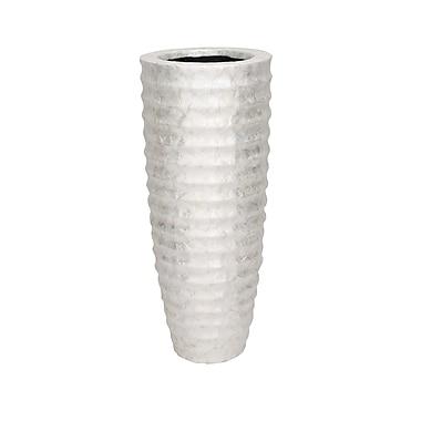 Woodland Imports Curved Design Capiz Vase; 35'' H x 14'' W x 14'' D
