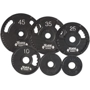 York Barbell G-2 Olympic  Single Grip Thin Line Plate; 10 lbs