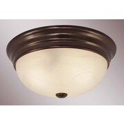 Volume Lighting 3 Light Ceiling Fixture Flush Mount; Antique Bronze