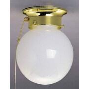 Volume Lighting 1 Light Ceiling Fixture Flush Mount; Polished Brass