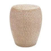 Woodland Imports Decorative Apple Ceramic Stool