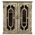 Woodland Imports Antique Wall Cabinet with Peculiar Pattern