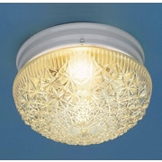 Volume Lighting 2 Light Ceiling Fixture Flush Mount; White