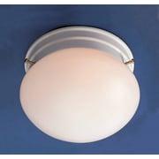 Volume Lighting 1 Light Ceiling Fixture Semi Flush Mount; White