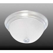 Volume Lighting 2 Light Ceiling Fixture Flush Mount; 5.5'' H x 11'' W x 11'' D