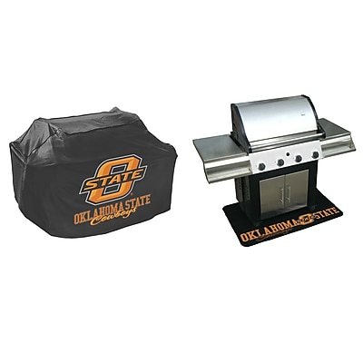 Mr. Bar-B-Q NCAA Grill Cover and Grill Mat Set; Oklahoma State Cowboys WYF078275718403